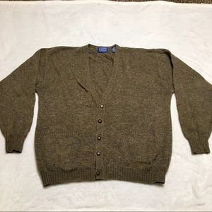 Pendleton Shetland Virgin Wool grandpa cardigan